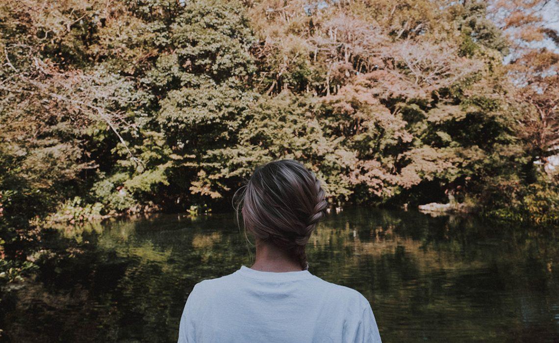 Girl standing in park